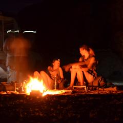 Namibia camp at night