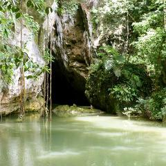 Belize jungle cave