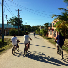 Belize locals cycling