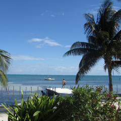 Belize coast pier
