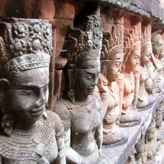 Cambodia temple scupltures