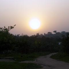 Ghana sunset