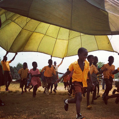 Ghana children playing