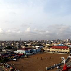 Ghana city shot
