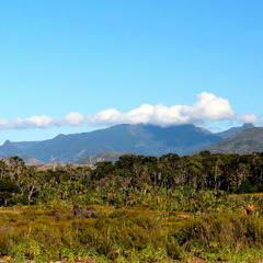 Madagascar countryside and hills