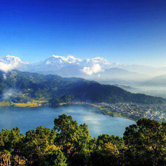 Nepal mountains and lake