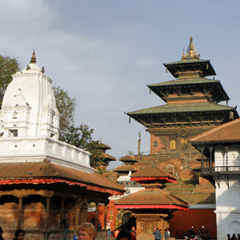 Nepal city shrine
