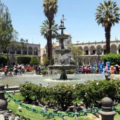 Peru city square