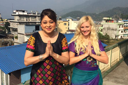 Yasmine and Jade in Nepal