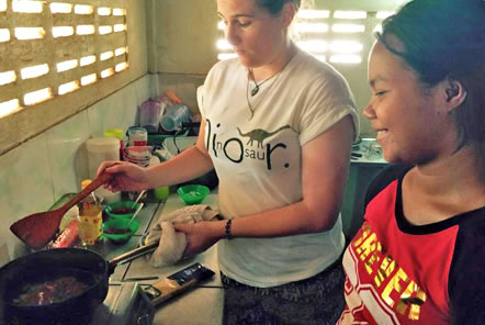Teaching English through cookery in Cambodia