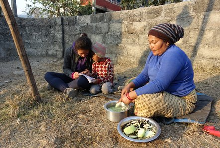 Meal preparation in Nepal