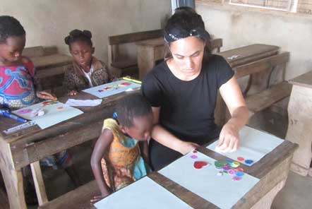 Laura at the Child Care project in Ghana