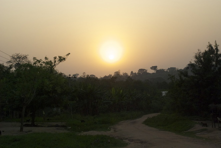 Sunset in Ghana