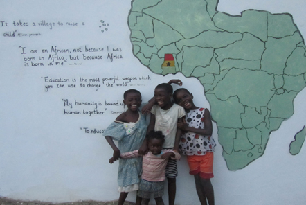 Children in Ghana at our Community projects