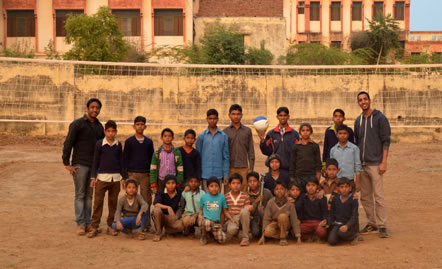 A new play area for the children in India