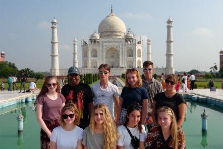 Volunteers at the Taj Mahal