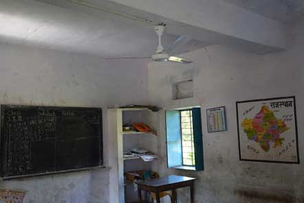 Classrooms are now lit and have working fans