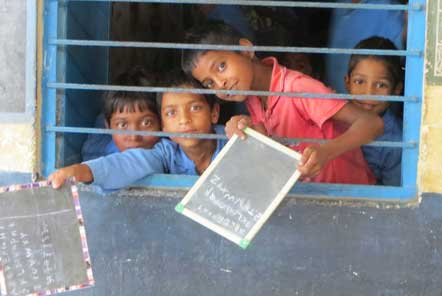 Children at a local primary school