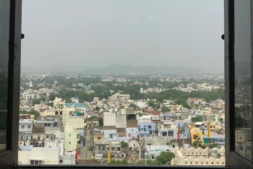 Views of Udaipur from the Monsoon Palace