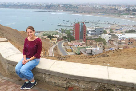 View from the top of the cliffs in Lima