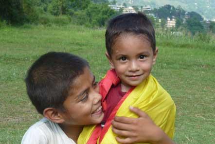 Charity help in Nepal