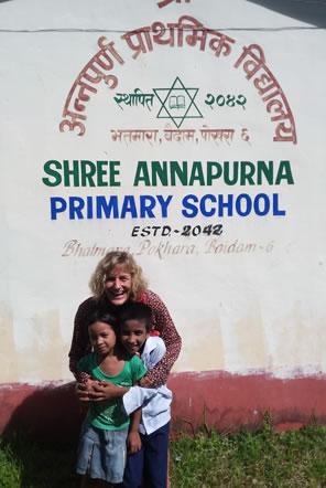 Karen at Annapurna School