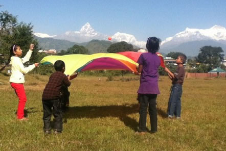 Parachutes with the Street Children