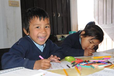 Children at Annapurna