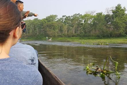 Canoe in Chitwan