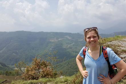 Sarah trekking