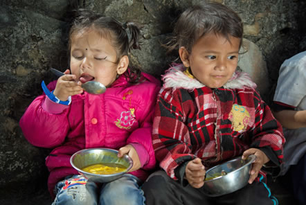 Outdoor365 fund meals for children in Nepal