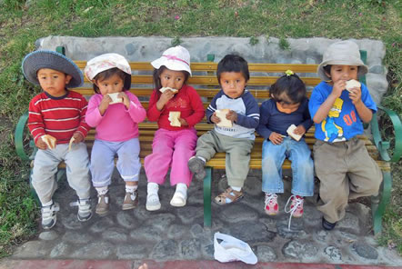 Pod Charity help to support nutrition in Peru
