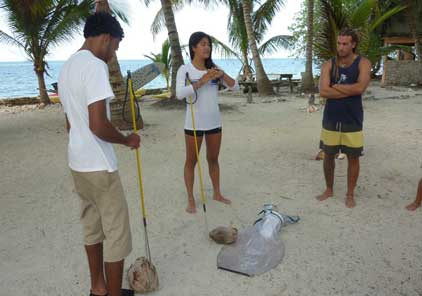 Lionfish spearing practise