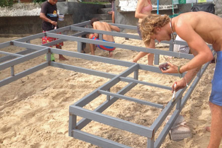 Constructing an an artificial reef