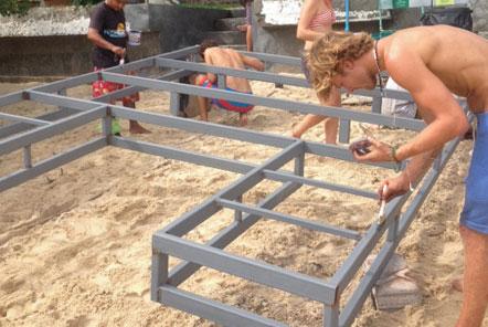 Constructing an an artificial reef