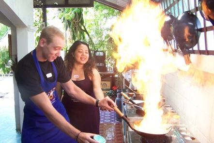 Cooking in Thailand