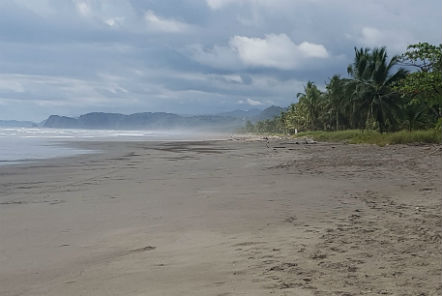 Beach on the Pacific Ocean coast of Costa Rica