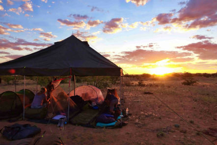 Wilderness camp in Namibia
