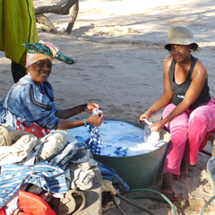Namibia local ladies washing