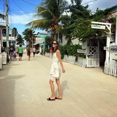 Belize volunteers walking on street