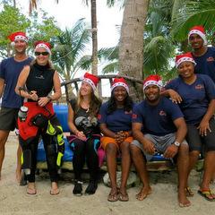 Christmas volunteering marine conservation team