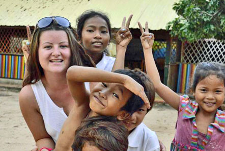 Charlotte volunteering in Cambodia
