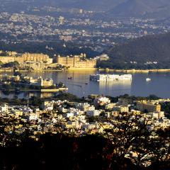 India city and lake