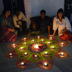 India lighting candles