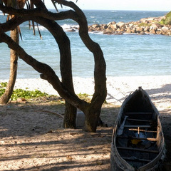 Madagascar boat and beach