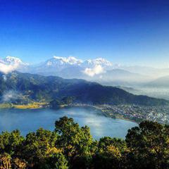 Nepal mountains and lake