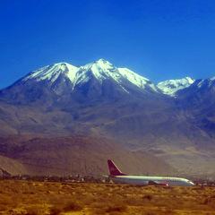 Peru mountain and airstrip