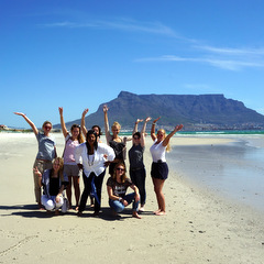 South Africa volunteers on beach