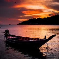Thailand island beach sunset
