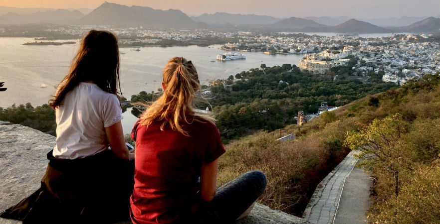 Stunning sunset views over Udaipur